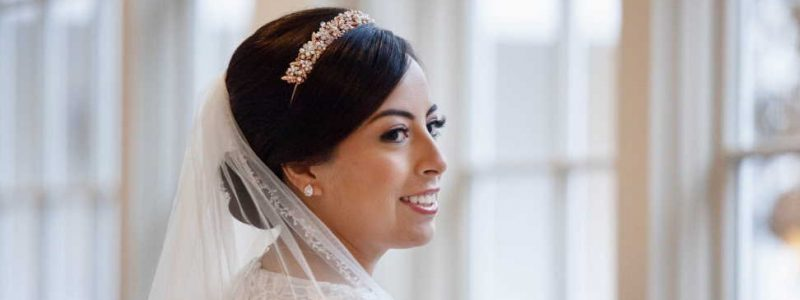 How to style wedding hair with a tiara?